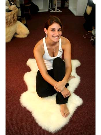 soft luxurious single sheepskin rug