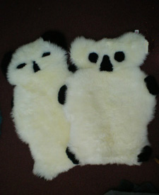 Koala or Panda Bear Sheepskin Rugs